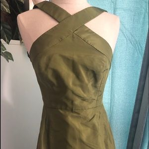 Jcrew  formal Olive formal NWT